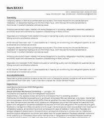 Sample Resume For Hvac Technician Lead Service Technician
