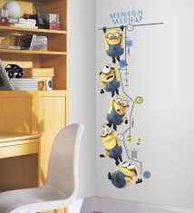 Minion Bedroom Wallpaper Despicable Me 2 Growth Chart Wall Decals Wall Sticker Shop