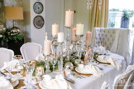 elegant white and gold dining room and table scape centerpiece ideas for round glass dining table centerpiece for round glass dining table