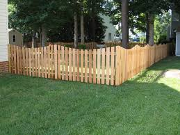 4 foot wood fence. 4 ft cedar scalloped picket foot wood fence p