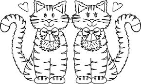 Cute Cat Coloring Pages Bestofcoloringcom