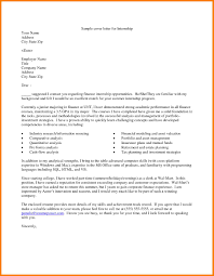 9 Example Cover Letter For Internship Precis Format