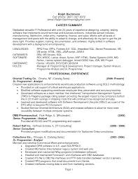 100 Senior Programmer Resume Writing Your Qualifications In
