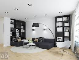 modern living room black and white. Classic Black And White Room Decor With Ceiling To Floor Cabinet Feat Sectional Couch On Laminate Wood Decors Modern Living R