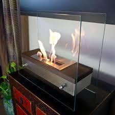 nu flame foreste ardore 15 7 in tabletop decorative bio ethanol fireplace in walnut