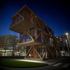 920x920 Cantilevered House (wood facade/glued laminated timber construction)
