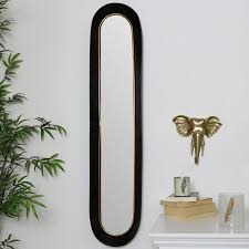 tall oval gold black mirror windsor