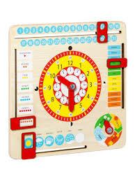 <b>Игрушка развивающая</b> Часы и календарь <b>GENIO KIDS</b> 4023101 в ...