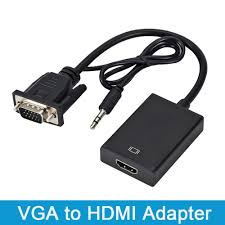 VGA Male to HDMI Female 1080P Adapter Converter Cable With 3.5 mm Audio  Output VGA to HDMI for PC laptop to HDTV Projector ps4|VGA Cables