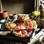 apple cheddar nut scones