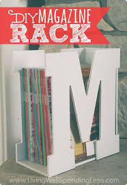 You won't believe how quick & easy it is to make this darling M is for Magazine  rack using precut wood letters & a piece of scrap wood!