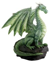 Rock Sculpture amazon green dragon on rock sculpture home & kitchen 4610 by xevi.us