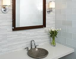 alluring decorations with white glass tile bathroom archaic design ideas using round silver sinks and