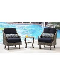 hanover patio furniture. Hanover Outdoor Ventura 3-piece Chat Set In Navy Blue (Brown/Navy) Patio Furniture O