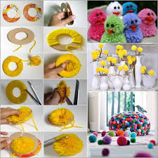 Small Picture Learn How to Make Pom Poms and Craft Decorative Items From Them