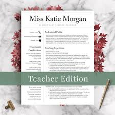 Teacher Resume Template For Word Pages 1 2 And 3 Page