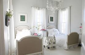 beautiful chandeliers for bedrooms and white comfort quilt with white simple curtains