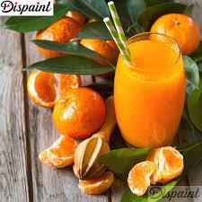 "<b>Dispaint Diamond Painting</b> ""Orange juice fruit"" DIY 5D Diamond ..."