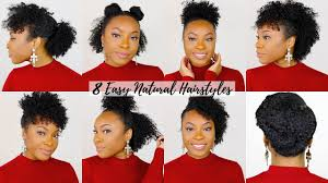 8 Quick Easy Hairstyles For Shortmedium Natural Hair Perfect