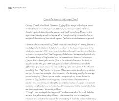 critical analysis george orwell gcse english marked by  document image preview