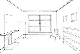 Beautiful One Point Perspective Bedroom Drawing Living Room Perspective How To Draw  The Inside Of A Room With 3 Point Perspective Drawing One Point Perspective  ...