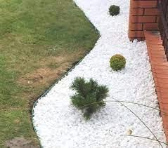 decorative marble white stones gravel