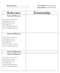 Resume Reference Template Professional Resume References Template How To Write Reference Page