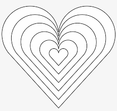 Download transparent heart emojis png for free on pngkey.com. Color Heart Black White Line Art 999px 121 Rainbow Heart Coloring Pages Free Transparent Png Download Pngkey