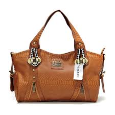 Coach In Embossed Medium Brown Totes DFZ