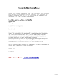 Resume Cover Letter Template letter template english templates and examples joblers cover 81