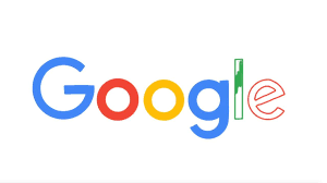 Colorful Google logo in white background