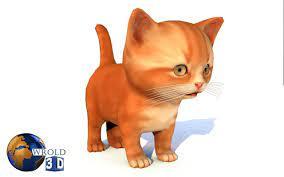 Cat Cute Kitten Lowpoly Rigged 3d Model ...