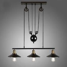 pulley lighting. homestia vintage pulley pendant loft ceiling light hanging lamp artistic lighting fixture amazoncouk diy u0026 tools