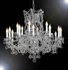 maria theresa 16 light silver 32 silver crystal chandelier l8