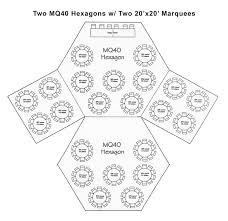 Hexagon Seating Chart Tent Sizing The Tent Guy