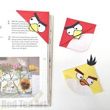 angry bird crafts easy bookmark corners red ted art s