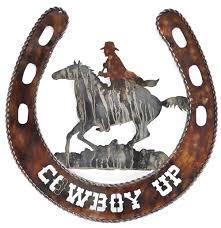 on cowboy metal wall art with cowboy spirit western wall art