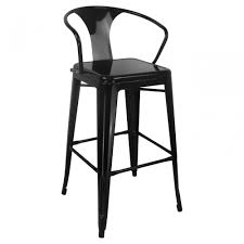 bar stools with arms and back. Full Size Of Bar Stools: Black Glossy Vintage Metal Stools Featuring Back And Arm With Arms L
