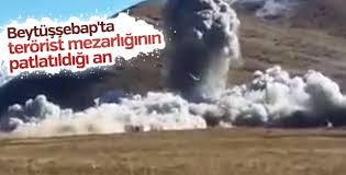 Şırnak'ta PKK mezarlığı bombalandı