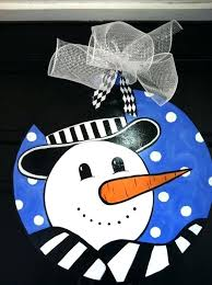 snowman door hanger ideas whimsical approximately by wood
