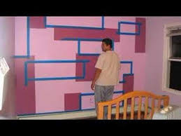 painting block wallInterior Wall Painting Blocks  YouTube
