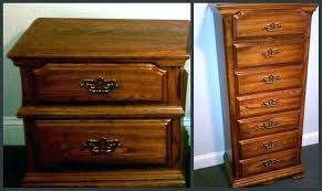 updating cherry bedroom furniture update oak nightstand and dresser before painting how to colonial