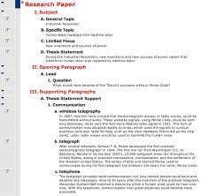 Research Paper Outline for PDF     Pinterest