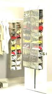 closetmaid over the door shoe rack closet door organizer shoe storage on over the rack white