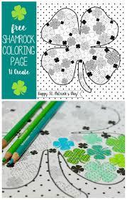 Shamrock Coloring Page Full Of Shamrocks Coloring Page U Create