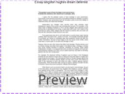 essay langston hughes dream deferred research paper service essay langston hughes dream deferred a dream deferred by langston hughes what happens to a