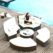 circular furniture. Outdoor Round Sectional Circular Patio Furniture Garden Set Chairs Table Covers Rounded D