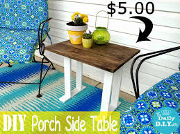 easy diy porch side table saay randomness