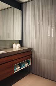 Bright Designlab Modern Bathroom With Metal Shower Curtain Modern