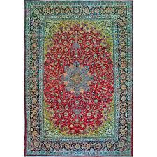 11 10 x 17 esfahan 100 wool vegetable dye hand knotted persian rug